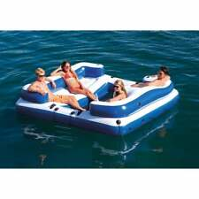 Intex Oasis Island Inflatable 5 Person Lake Floating Lounge Raft - 58293EP