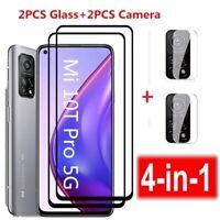 For Xiaomi Mi 10T/10T Pro Lite Tempered Glass Screen Protector +Camera Lens Film