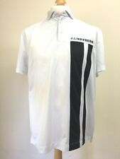 Mens J.Lindeberg Golf Polo Shirt Size XL Regular Fit White and Black