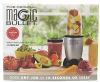 The Original Magic Bullet 11 Piece Set Blender & Mixer Small Silver ~Brand New~
