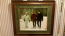 GORDIE HOWE WAYNE GRETZKY MARIO LEMIEUX RARE POND OF DREAMS SIGNED CANVASS - WGA