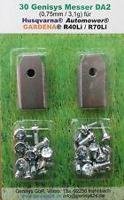 30x Klingen Messer Edel-Stahl 0,75mm + Schrauben für Husqvarna Automower 315 320