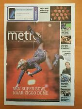 Newspaper Metro Holland Lady Gaga 07-02-2017 RARE Joanne world tour