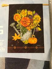 """Breezeart Watering Can Flowers LARGE HOUSE GARDEN FLAG 28 x 40"""""""