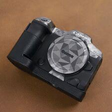 VR Handmade Genuine Leather Camera Half Case for Canon EOS R5 R6 Black