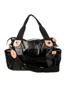 SALE - Storksak Kate Patent Diaper Bag Black