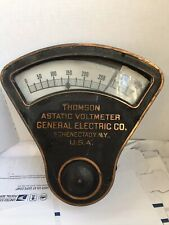 1900s Thomson Astatic Voltmeter General Electric Co Schenectady Ny Antique