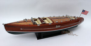 Typhoon Handmade Wooden Model Speedboat 28""