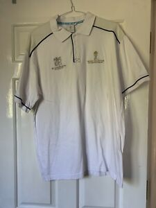 ICC 2007 Mens White Polo Shirt - Size L *USED*