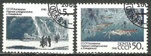 RUSSIA 1990 - ANTARCTIC RESEARCH - 2 Stamps Scott #5902-5903 WYSIWYG