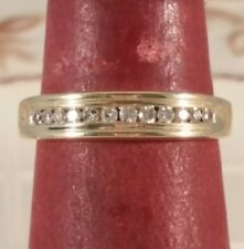 14K Yellow Gold Genuine Diamond Band for Men or Women FREE SIZING! ! !