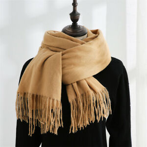 Women's Warm Shawl Scarf Pashmina Neck Wrap Stole Blanket Collor Solid Color