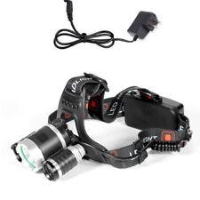 12000LM 3 x XML CREE T6 LED Rechargeable HeadTorch Headlamp Light Lamp *DE3