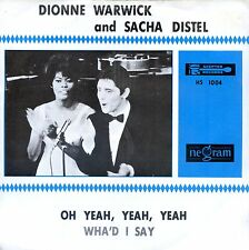7inch DIONNE WARWICK and SACHA DISTEL oh yeah yeah yeah HOLLAND EX +PS
