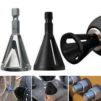 2xStainless Steel Deburring External Chamfer Tool Drill Bit Remove Burr Silver E