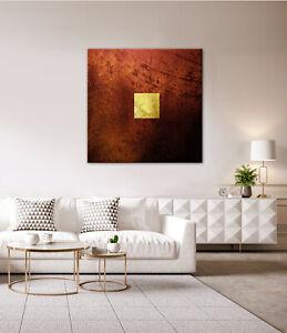 GOLD Leinwandbild Schwarz Rot Wandbild über Kommode Sideboard Schrank Modern XL