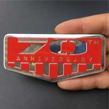 Red 70th Anniversary Rear Trunk Badge Emblem Sticker For Jeep