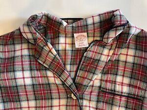 Brooks Brothers Flannel Pajama Set Plaid Men's Size Med Red Loungewear EUC