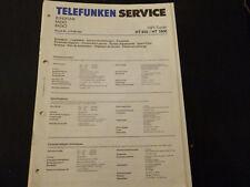 ORIGINALI service manual TELEFUNKEN HT 850 HT 1800