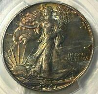 1947 PCGS MS66 GOLD SHLD Silver Walking Liberty Half Dollar 50c ~ Monster Toned