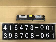 416473-001 398706-061, HP 4GB PC2-5300F-5 DDR2 dual-rank x4 1.80V FBDIMM