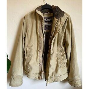 Abercrombie & Fitch Men Adirondack Jacket Deep Pile Lined Heavy Coat Size Medium