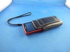 Original Bugatti Leather Sac en Cuir Sac Case Étui Housse Nokia x3 Noir Top