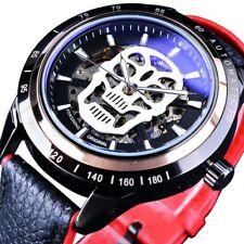 Men's Skull Design Wrist Watch Automatic Mechanical Skeleton Sport & Luminous