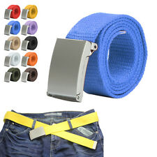 Fashion Waistband Men Women Plain Webbing Canvas Buckle Accessories Belt