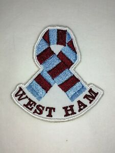 WEST HAM - PATCH 'SCARF'  IRON ON / SEW ON - FREE POST - CAN BE PERSONALISED