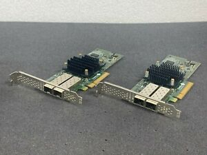 LOT OF 2 Chelsio 110-1160-50 T520-CR 10GbE 2-Port PCIe Unified Wire Adapter Card