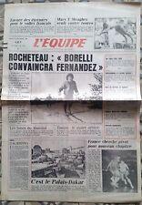 L'equipe journal 31/12/1985; rocheteau-borelli/mary t. meagher/braun/mundial