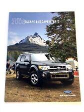 2008 Ford Escape and Hybrid Original Canada Car Sales Brochure Catalog