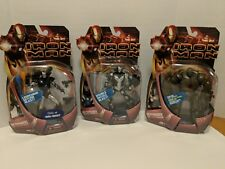 Iron Man 2008 Variant Lot Of 3 Iron Monger Red Arc Satellite Armor Stealth Ops