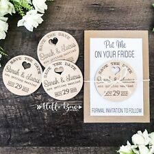 Save the Date Personalised Wooden Event Party Wedding Invitation Magnet