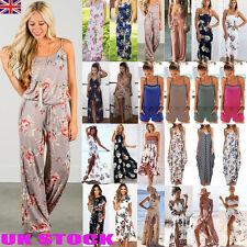 UK Boho Womens Holiday Mini Playsuit Dress Summer Party Beach Sundress Jumpsuit