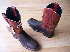 """Laredo  Razor Mens Boots # 7845 Cowboy Western 11"""" Underlays Brown Red 9 D"""