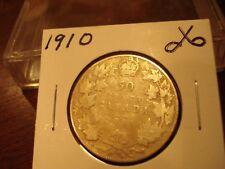 1910 - Canada Silver Half Dollar - Canadian 50 cent coin