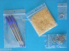 Lot de 100 buste zip 60 x 80 mm sacchettini plastica 6 8 cm gioiello chiodi 40µ