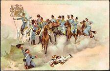3185 CHILE EL GENERAL SAN MARTIN CON ESTADO MAYOR CENTENARY PATRIOTIC POSTCARD