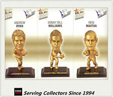2008 Select NRL Gold Figurine Collectable Trading CARDS team Set Bulldogs (3)