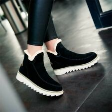 Women's Suede Ankle SnowBoots Light Anti-skid Fleece Warm Winter Short Shoes New