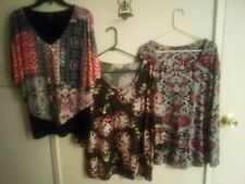 Ladies 3/4 sleeve tops xLg Lot  3 beautiful dressy like ladies blouses size XL