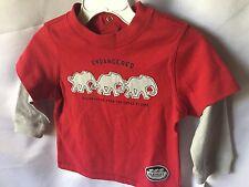 Nursery Rhyme Elephant Long Sleeve Layered Look Tee Shirt Toddler Size 12m New