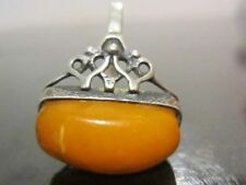 antique natural amber stone ring  king, egg yolk Baltic amber 老琥珀 波羅的海琥珀