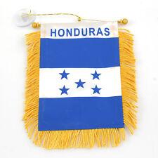 """""""HONDURAS"""" FLAG MINI BANNER CAR WINDOW MIRROR"""