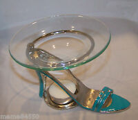 Turquoise  High Heel Shoe Oil Burner Or Tart Warmer