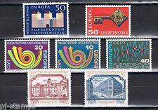 Europa CEPT Liechtenstein 1964-1968-1972-1973-1978 cat waarde € 7,10