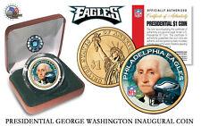 PHILADELPHIA EAGLES NFL US Mint PRESIDENTIAL Dollar Coin VELVET BOX AND COA NEW*