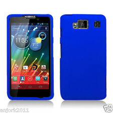Motorola Droid Razr Maxx HD Snap-On Hard Cover Case Solid Blue